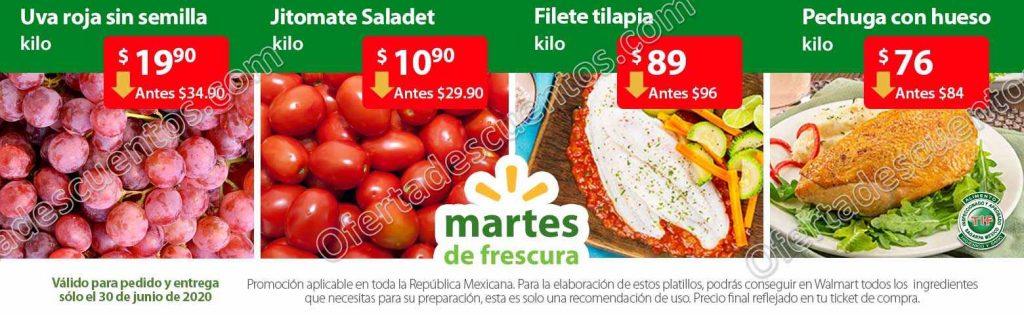 Ofertas Martes de Frescura Walmart 30 de Junio 2020