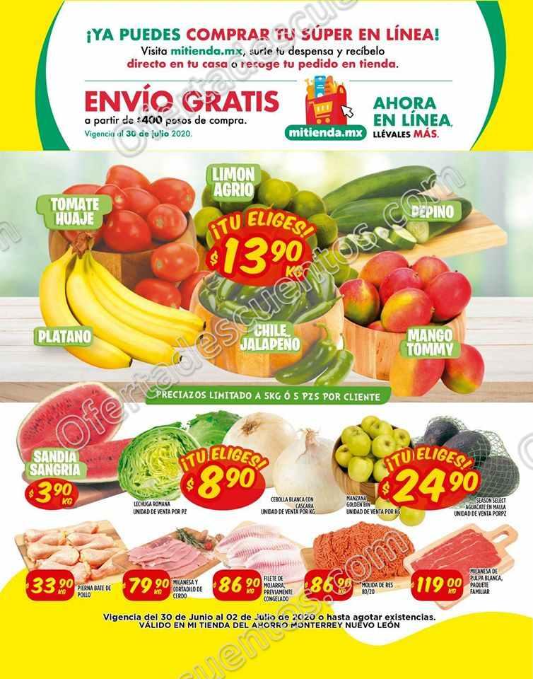 Mi Tienda del Ahorro: Ofertas Frutas y Verduras del 30 de Junio al 2 de Julio 2020