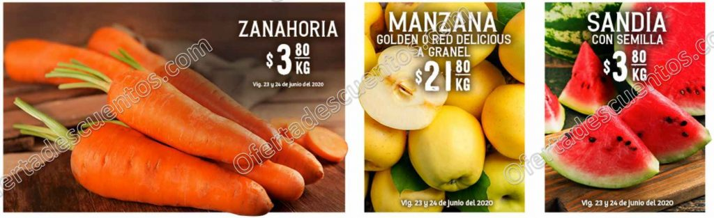 Soriana: Ofertas Frutas y Verduras 23 y 24 de Junio 2020