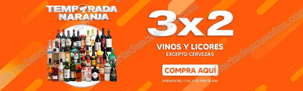 Temporada Naranja 2020 La Comer: 3×2 en Vinos y Licores