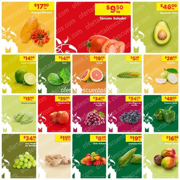 Chedraui: Ofertas Frutas y Verduras 21 y 22 de Julio 2020
