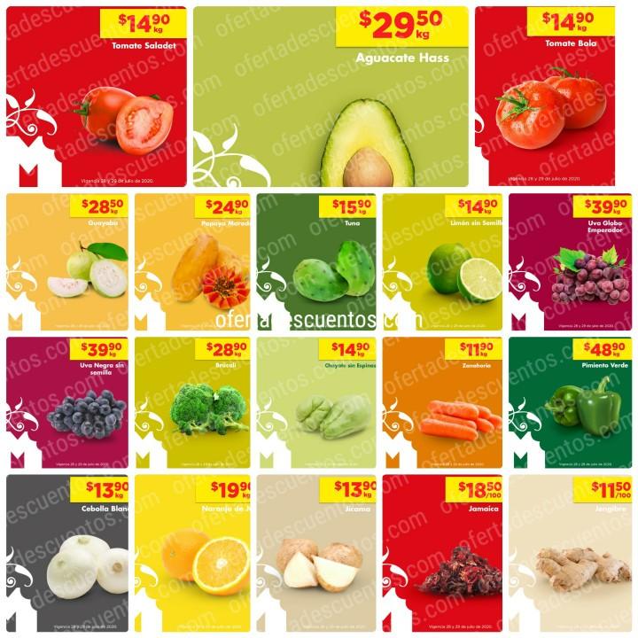 Chedraui: Ofertas Frutas y Verduras 28 y 29 de Julio 2020