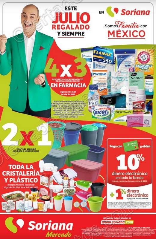 Folleto Ofertas Julio Regalado 2020 Soriana Mercado del 10 al 16 de Julio