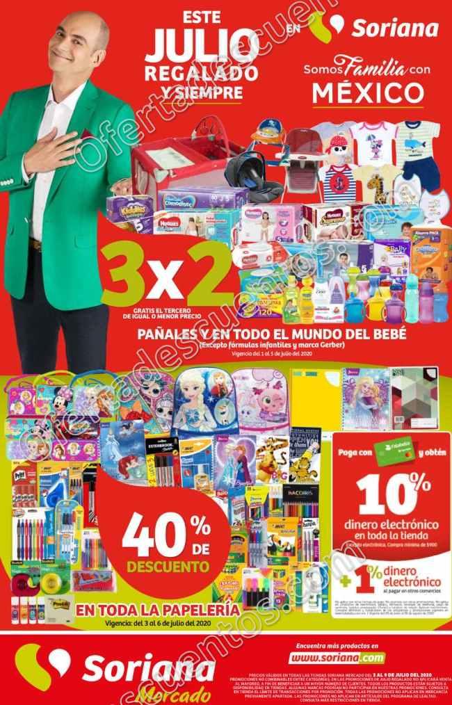 Folleto Ofertas Julio Regalado 2020 Soriana Mercado del 3 al 9 de Julio 2020