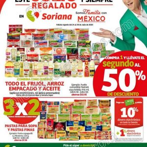 Folleto Ofertas Julio Regalado 2020 Soriana Super del 24 al 30 de Julio