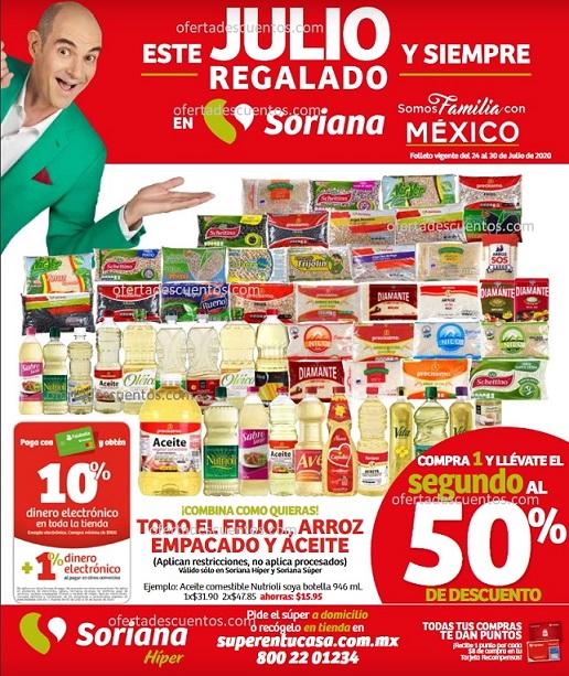 Folleto Ofertas Julio Regalado 2020 Soriana Hiper del 24 al 30 de Julio