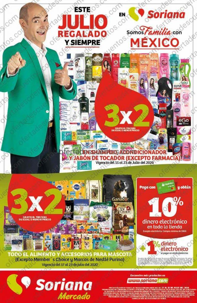 Folleto Ofertas Julio Regalado 2020 Soriana Mercado del 17 al 23 de Julio