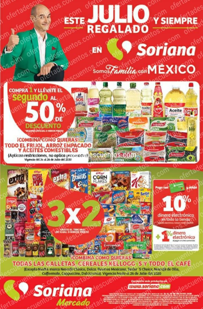 Folleto Ofertas Julio Regalado 2020 Soriana Mercado del 24 al 30 de Julio