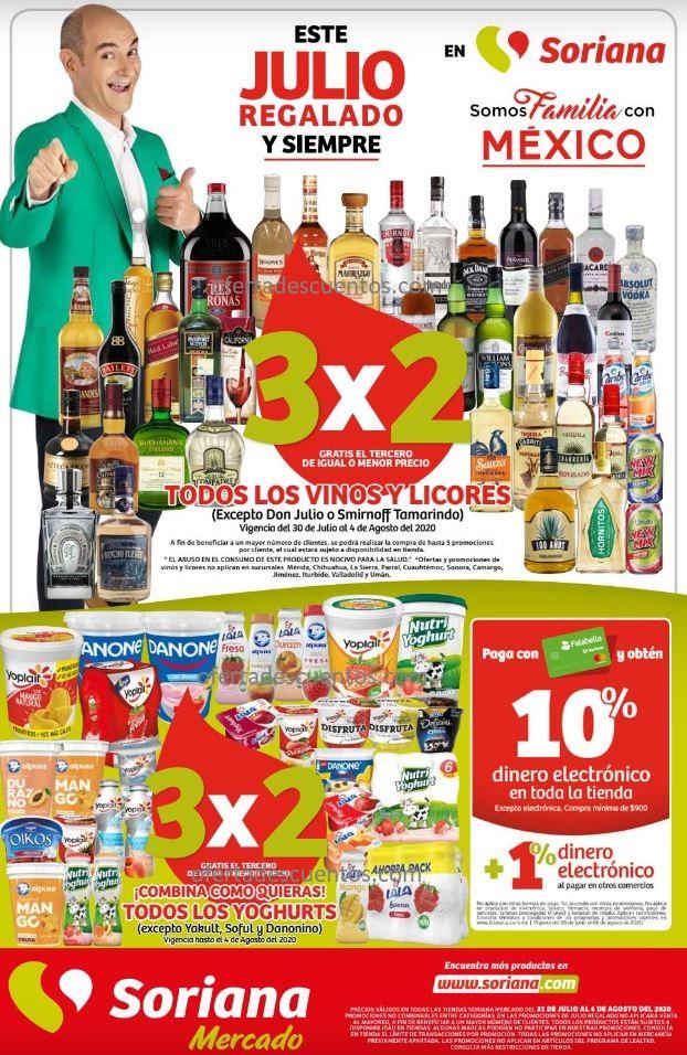 Folleto Ofertas Julio Regalado 2020 Soriana Mercado del 31 de Julio al 6 de Agosto