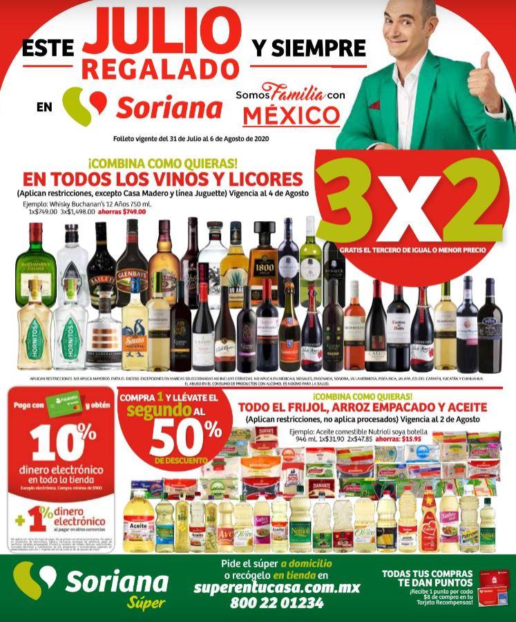 Folleto Ofertas Julio Regalado 2020 Soriana Super del 31 de Julio al 6 de Agosto