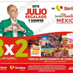 Julio Regalado 2020 Soriana: 3×2 en Congelados, Quesos Empacados y Salchichoneria