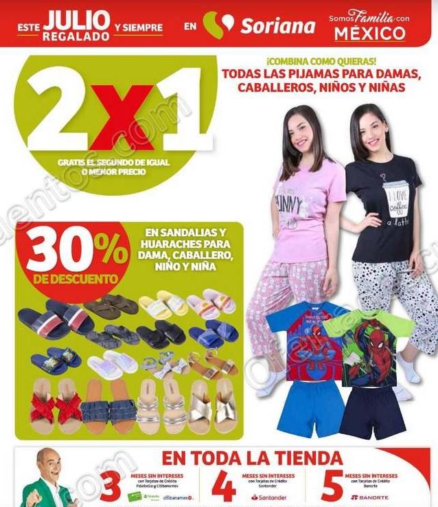 Julio Regalado 2020 Soriana: 2×1 en Pijamas Para Toda la Familia