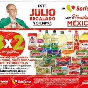 Julio Regalado 2020 Soriana Mercado: 3×2 en Todo el Frijol, Arroz Empacado y Aceite SOLO Hoy