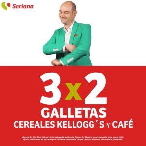 Julio Regalado 2020 Soriana: 3×2 en Todas las Galletas, Café y Cereales Kellogg's