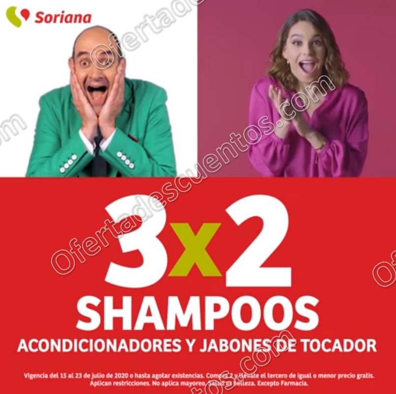 Julio Regalado 2020 Soriana: 3×2 en Shampoos, Acondicionadores y Jabones de Tocador