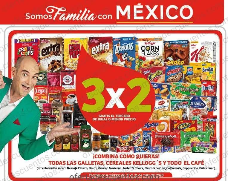 Julio Regalado 2020 Soriana Mercado: 3×2 en Todas las Galletas, Cafés y Cereales Kellogg's