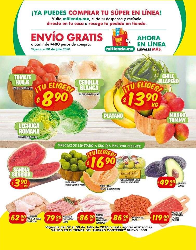 Mi Tienda del Ahorro: Ofertas en Frutas y Verduras del 7 al 9 de Julio 2020