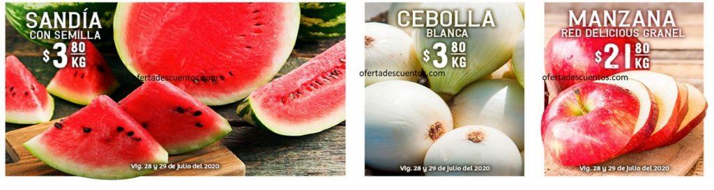 Soriana: Ofertas Frutas y Verduras 28 y 29 de Julio 2020