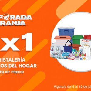 Temporada Naranja 2020 La Comer: 2×1 en Cristalería y Plásticos del Hogar