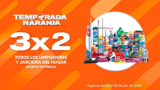 Temporada Naranja 2020 La Comer: 3×2 en Limpiadores y Jarciería del Hogar