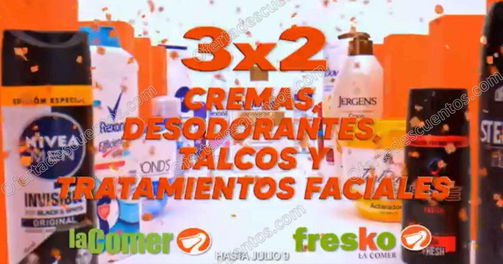 Temporada Naranja 2020 La Comer: 3×2 en Cremas, Desodorantes, Talcos y Tratamientos Faciales