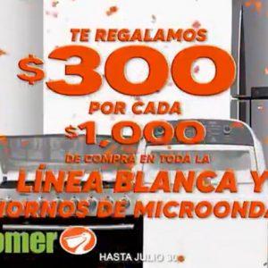 Temporada Naranja 2020 La Comer: $300 de Descuento por cada $1,000 en Línea Blanca y Hornos de Microondas