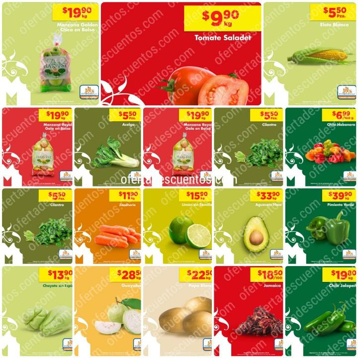 Chedraui: Ofertas en Frutas y Verduras 1 y 2 de Septiembre 2020