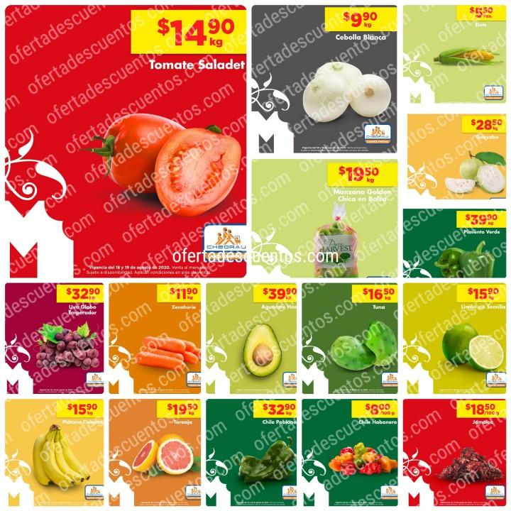 Chedraui: Ofertas en Frutas y Verduras 18 y 19 de Agosto 2020