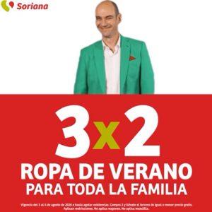 Julio Regalado 2020 Soriana: 3×2 en Ropa de Verano para Toda la Familia