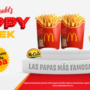 Día de las Papas Fritas 2020 McDonalds: 2×1 en Papas Grandes Solo 20 de Agosto