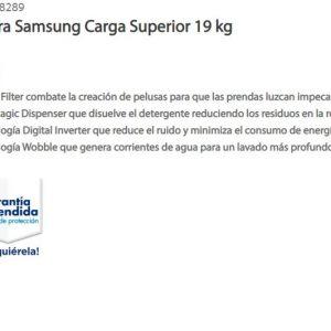 Sam's Club: Ofertas en Lavadora Samsung 19 kilos $4,401 y más
