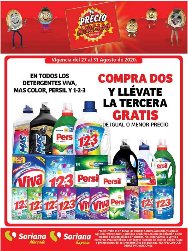 Soriana Mercado: Promociones de Fin de Semana del 28 al 31 de Agosto 2020