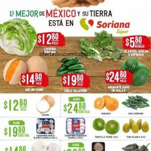 Soriana Super: Ofertas en Frutas y Verduras 11 y 12 de Agosto 2020