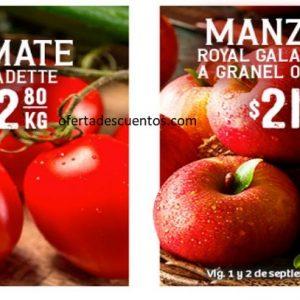 Soriana: Ofertas en Frutas y Verduras 1 y 2 de Septiembre de 2020