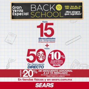 Gran Venta Especial Back To School Sears: Hasta 50% de Descuento del 24 al 31 de Agosto 2020