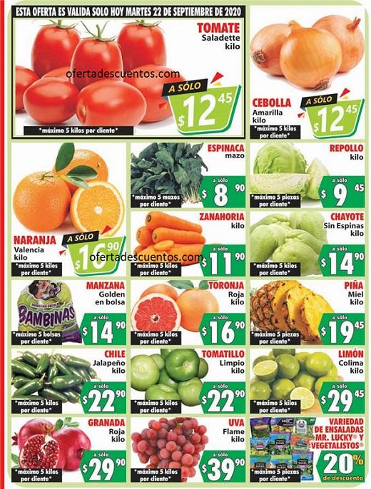 Casa Ley: Ofertas en Frutas y Verduras 22 y 23 de Septiembre 2020