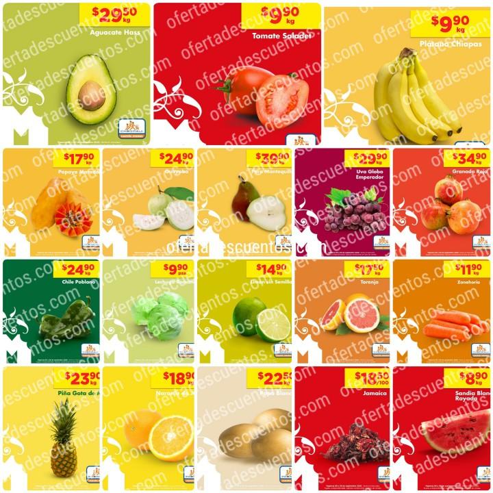 Chedraui: Ofertas en Frutas y Verduras 8 y 9 de Septiembre 2020