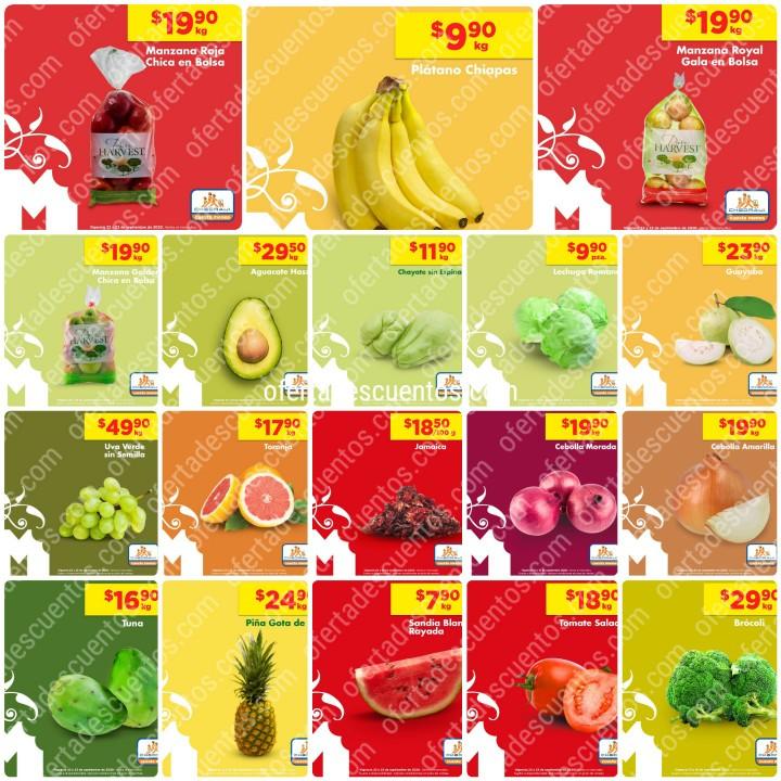 Chedraui: Ofertas Frutas y Verduras 22 y 23 de Septiembre 2020