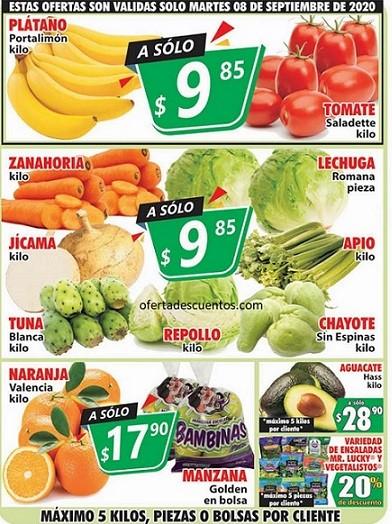 Casa Ley: Ofertas en Frutas y Verduras 8 y 9 de Septiembre 2020