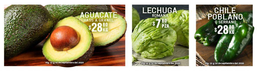 Soriana: Ofertas en Frutas y Verduras 15 y 16 de Septiembre 2020