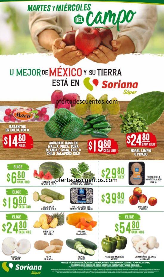Soriana Super: Ofertas en Frutas y Verduras 15 y 16 de Septiembre 2020