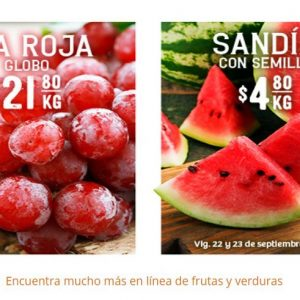 Soriana: Ofertas Frutas y Verduras 22 y 23 de Septiembre 2020