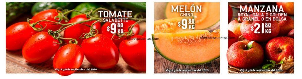 Soriana: Ofertas en Frutas y Verduras 8 y 9 de Septiembre 2020