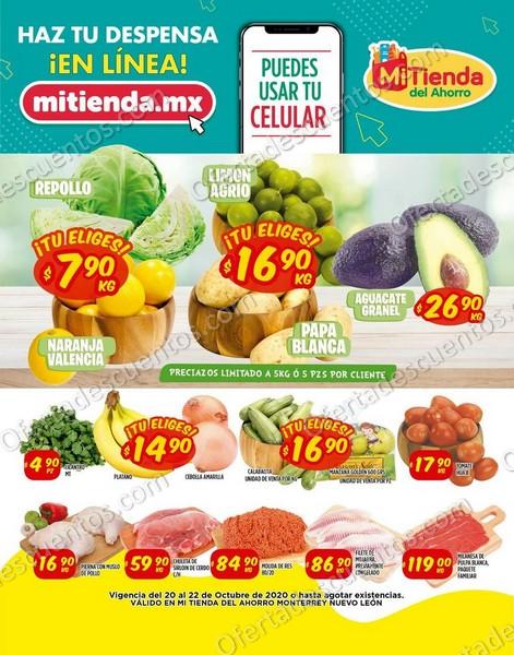 Mi Tienda del Ahorro: Ofertas en Frutas y Verduras del 20 al 22 de Octubre 2020
