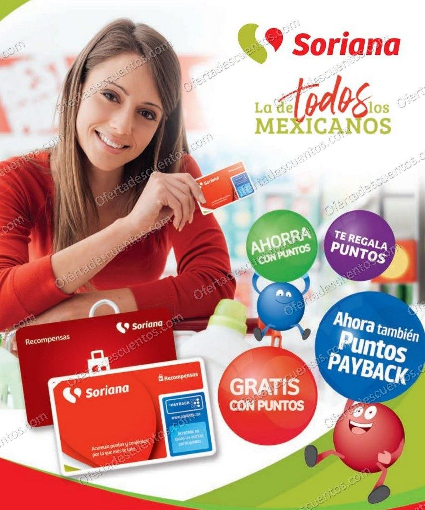 Soriana: Folleto de Productos Gratis con Puntos Recompensas al 31 de Octubre 2020