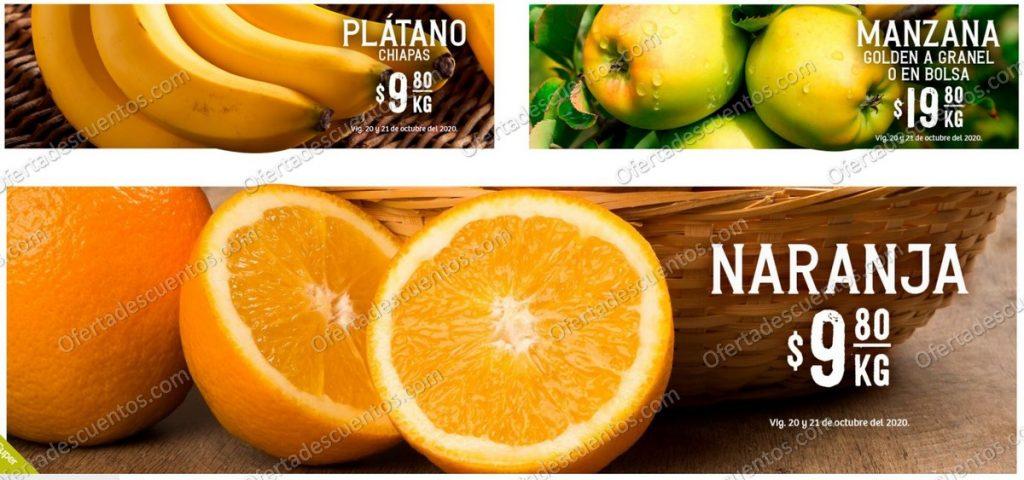 Soriana: Ofertas Frutas y Verduras 20 y 21 de Octubre 2020