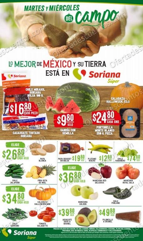 Soriana Super: Ofertas Frutas y Verduras 27 y 28 de Octubre 2020