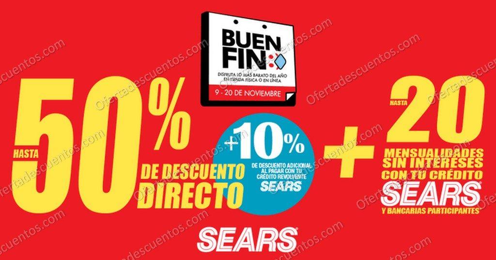 Buen Fin 2020 Sears: Hasta 50% de Descuento en Toda la Tienda