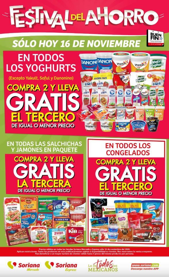 Buen Fin 2020 Soriana Mercado: Ofertas Festival del Ahorro 16 de Noviembre