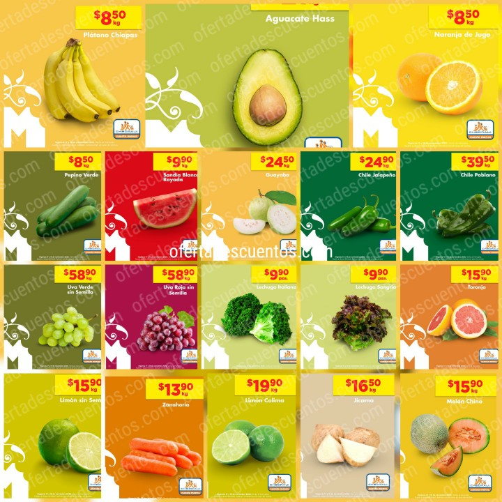Chedraui: Ofertas en Frutas y Verduras 17 y 18 de Noviembre 2020